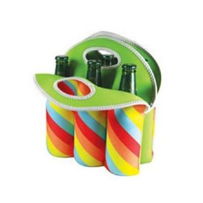 Avanti Six Pack Bottle Carrier Tote Retro Stripe