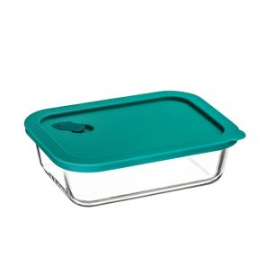 ClickClack Rectangular Food Container 1L Teal