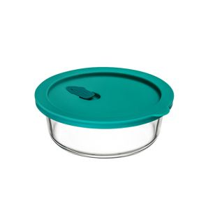 ClickClack Round Food Container 400ml Teal