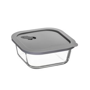 ClickClack Square Food Container 800ml Grey