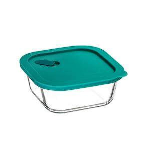 ClickClack Square Food Container 800ml Teal