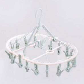Clip & Drip Foldable Drying Hanger 18 Clips Aqua
