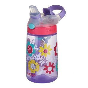 Contigo Kids Gizmo Flip AutoSpout Water Bottle 420ml Flowers