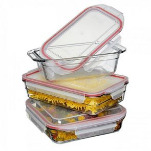 Glasslock 3 Piece Tempered Glass Bakeware Set