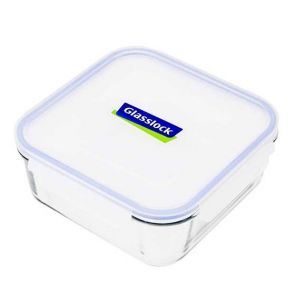 Glasslock Square Tempered Glass Food Container 2.6L