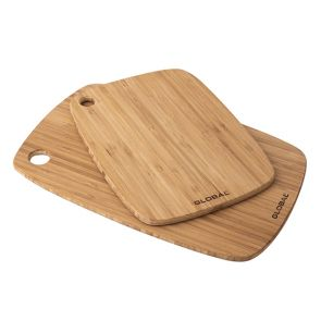 Global Tri-Ply Bamboo Cutting Board - Set of 2