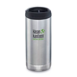 Klean Kanteen TKWide Insulated Bottle with Cafe Cap 355ml Brushed Stainless