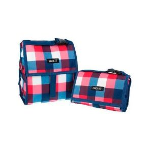 PackIt Freezable Lunch Bag Buffalo Check