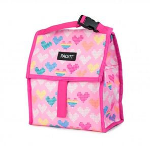 PackIt Freezable Lunch Bag Pixel Hearts
