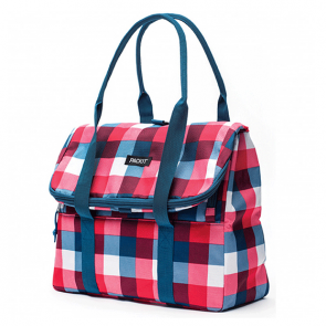 PackIt Freezable Picnic Tote Bag Buffalo Check