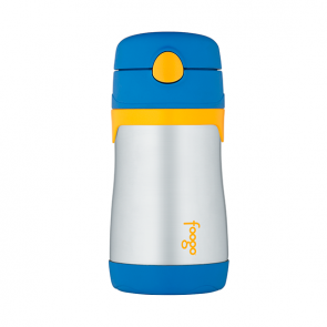 Thermos Foogo Insulated Drink Bottle with Straw 290ml Blue