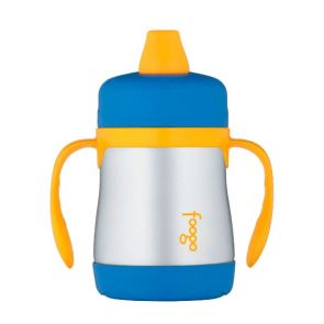 Thermos Foogo Vacuum Insulated Sippy Cup w/ Handles 210ml Blue
