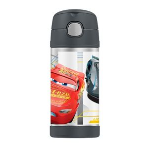 Thermos Funtainer Stainless Steel Vacuum Insulated Bottle 355ml Disney Cars 3