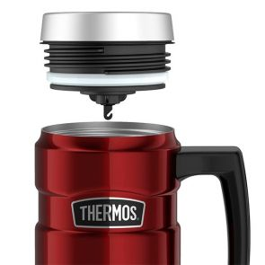 Thermos Stainless Steel King Insulated Travel Mug 470ml Red