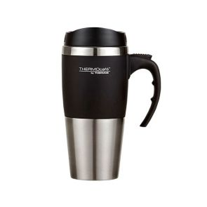 Thermos ThermoCafe Stainless Steel Double Wall Travel Mug 450ml Black